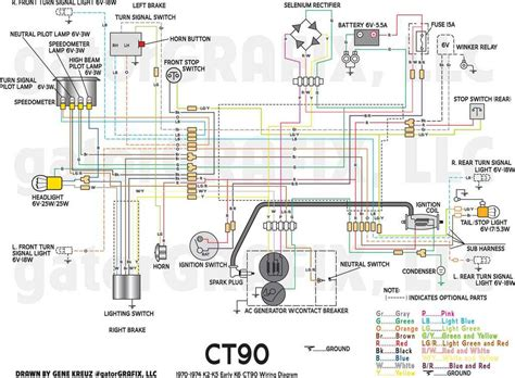ct90 wiring diagram 1970 1974 k2 k5 early k6 ct90 stock wiring diagram honda