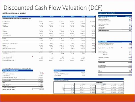 dcf template discounted flow excel sle edgrafik