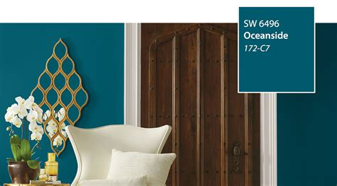 introducing the 2018 color of the year oceanside sw 6496