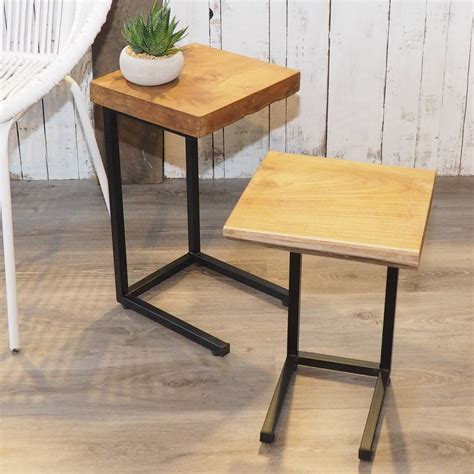 industrial wood coffee table industrial wood coffee table nest by za za homes