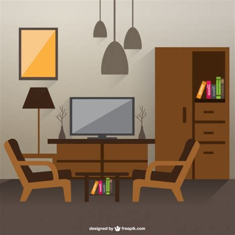 room design free sketch of living room interior vector free