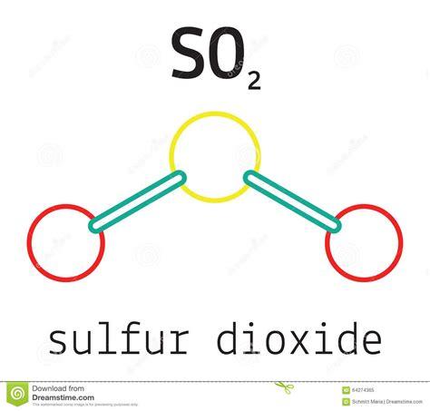 sulfur dioxide diagram image gallery so2 molecule