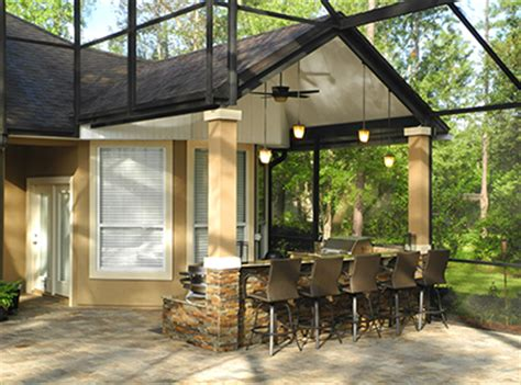Screen Porch Jacksonville Fl by Creative Design Space Outdoor Kitchens Jacksonville
