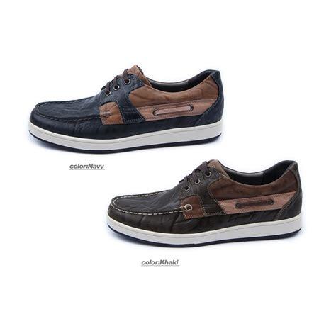 mens navy leather non slip rubber sole sports fashion