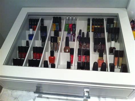 nagellack aufbewahrung schublade my nail drawer nail storage ideas