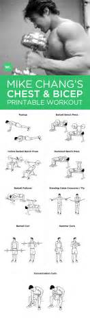 biceps workout chart for new calendar template site