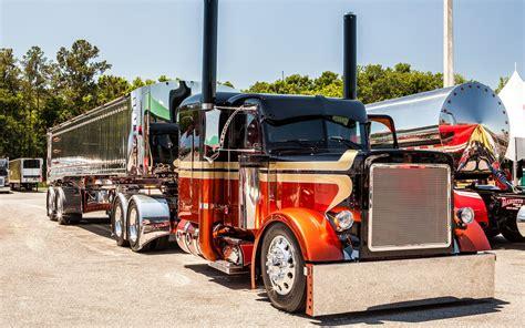 peterbilt tractor trailer semi big rig custom tuning