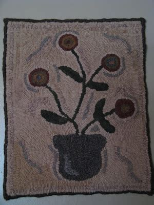 how to finish a rug hooking project simply prim my rug hooking project is done