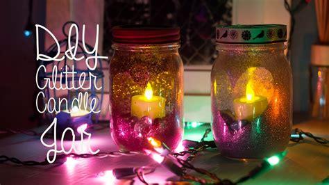 diy decorations candle jars diy glitter candle jar room decor