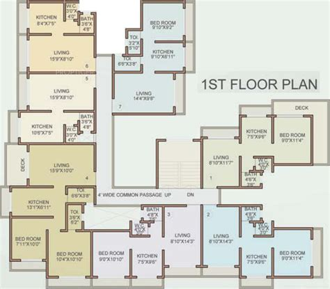 serin residency floor plan 844 sq ft 2 bhk 2t apartment for sale in dhruv associates