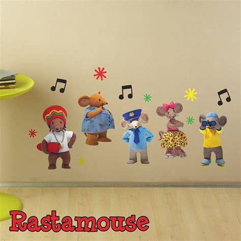 character wall stickers rastamouse character pack wall sticker by the binary box notonthehighstreet