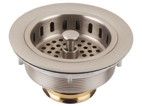 thompson traders 3 5 quot basket strainer brushed nickel