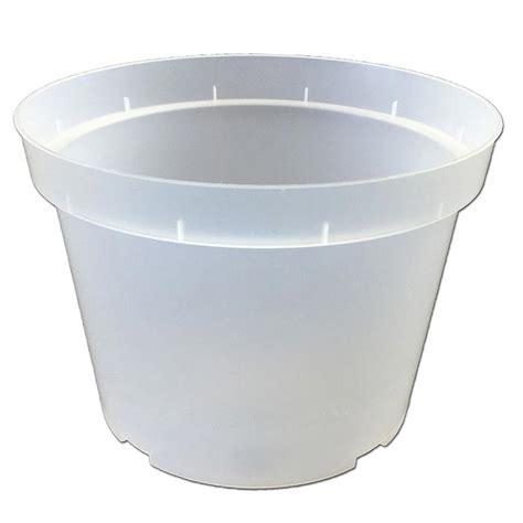 Clear Planter Pots by 7 Quot Rigid Clear Plastic Pot