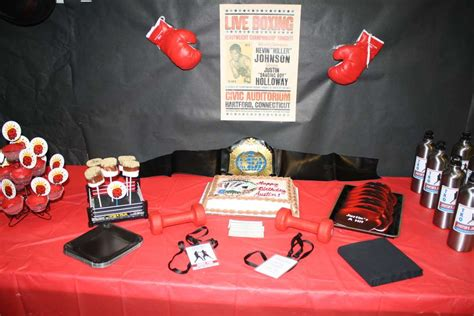 boxing theme decorations boxing birthday ideas photo 2 of 15 catch my