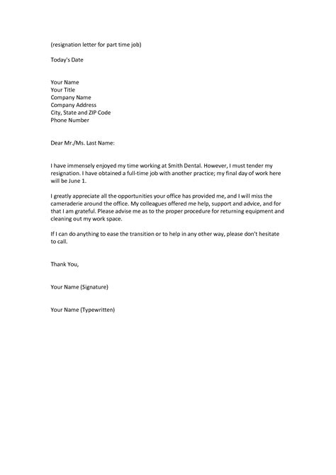 Resignation Letter Sle Better Offer Business Letter Definition Best Business Template