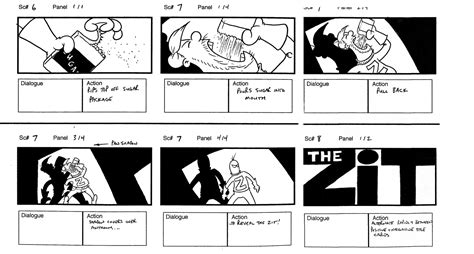 interactive storyboard template storyboard pics and information tyson animation visual arts