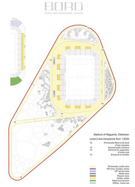 football stadium floor plan gallery of nagyerdo football stadium bord 50