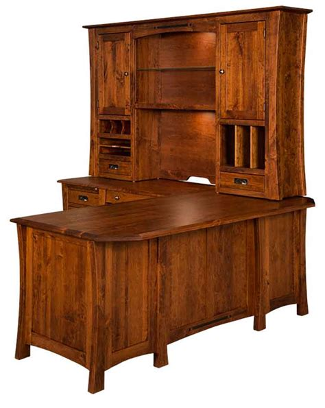 Amish Arts Crafts Corner L Desk La 320 L 3 000 00 Amish Desk