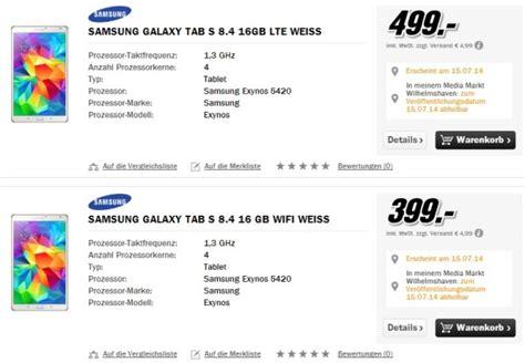 Samsung Galaxy Tab S 8 4 Lte 399 by Samsung Galaxy Tab S 8 4 10 5 Ab 15 Juli Ab Eur 399 00