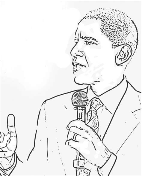 obama coloring page timeless miracle com