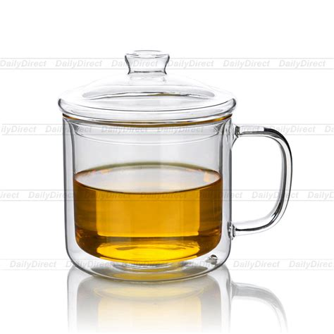 Beverage Tumblers 460 Ml 14 9oz lots 10fl oz 300ml heat resistant wall glass tea drink cups mugs w lid in mugs from home