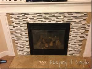 fireplace makeover with mosaic tiles keeping it simple