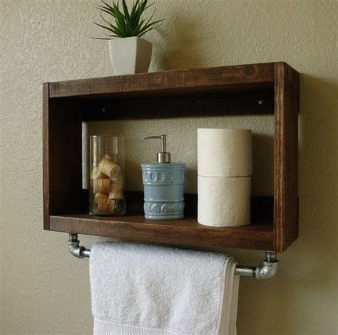 bathroom wall rack simply modern rustic bathroom shelf w 18 quot brushed nickel