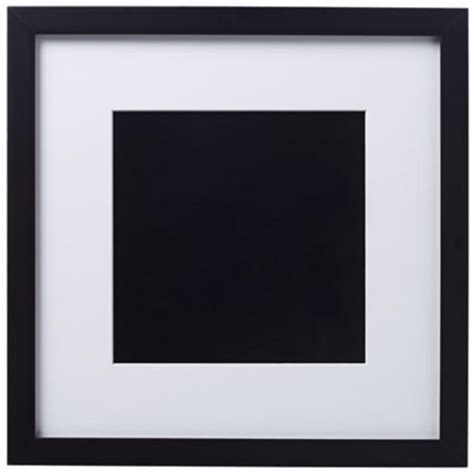 black picture frames with white matting 14 x 14 black finish with white matting wall frame