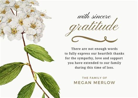 16 best funeral thank you card images on pinterest card stock