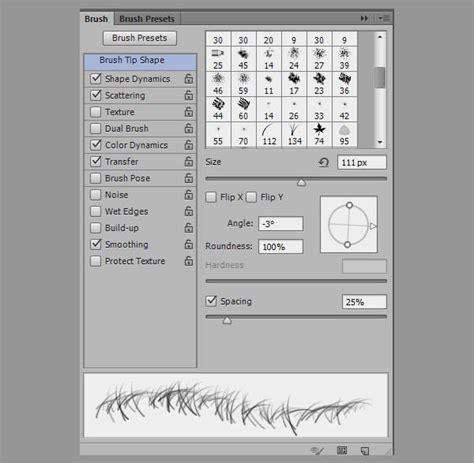 Kuas Masker Mask Brush desain photoshop buat text effect autumn bertema 3d