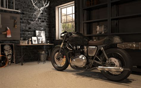 vintage motorcycle garage by mitika dimov house design