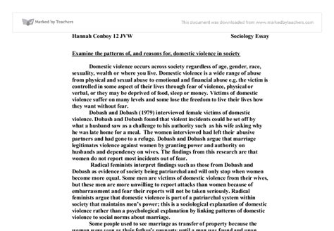 Essay On Domestic Violence by Essay Domestic Violence