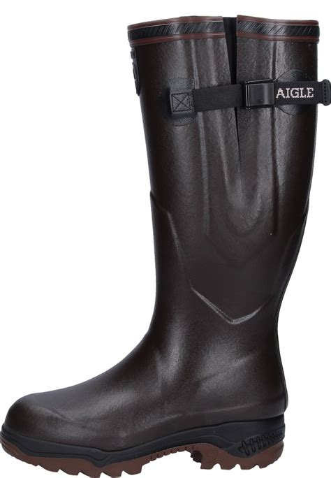 aigle boots for aigle parcours 2 iso brown rubber boots the rubber