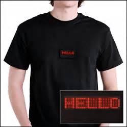 T Shirt Electronic 04 scrolling led t shirt wearable tech crunchwear