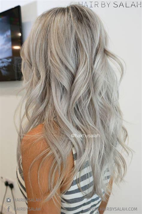 platinum highlights with ash brown hair platinum ash blonde highlights hair by salah