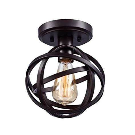Ceiling Lighting Fixtures Flush Mount Dazhuan Antique 1 Light Metal Globe Chandelier With Cage Flush Mount Ceiling L Light Fixture