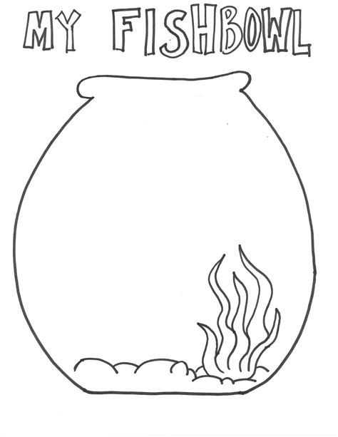 fish bowl template printable free fishbowl and goldfishes make a great addition subtraction