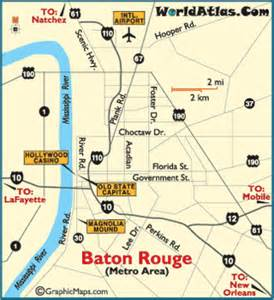 Louisiana Casinos Map by Baton Rouge Map Baton Rouge Attractions Hollywood