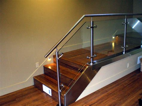 Stainless Steel Handrail With Glass glass balusters for railings custom fabricated stainless steel and glass railing house