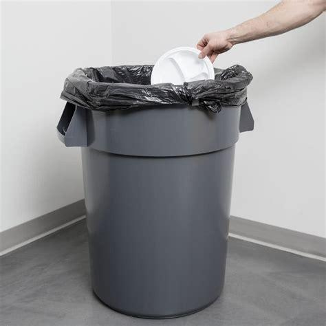 trash can 44 gallon gray trash can