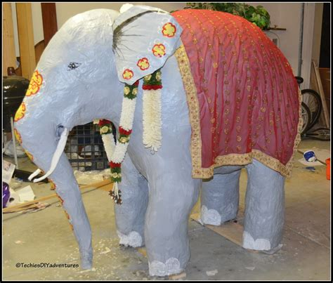 What Do U Need To Make Paper Mache - tutorial on how to make paper mache elephant almost