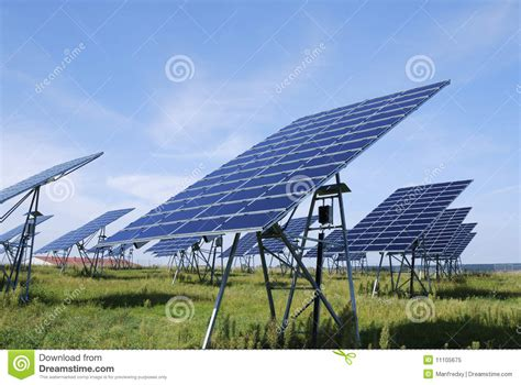 green solar energy stock image image of industrial