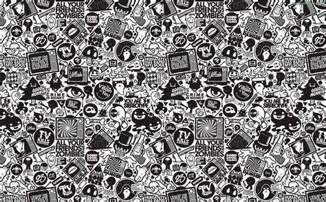black and white retro wallpaper doodle wallpapers wallpaper cave