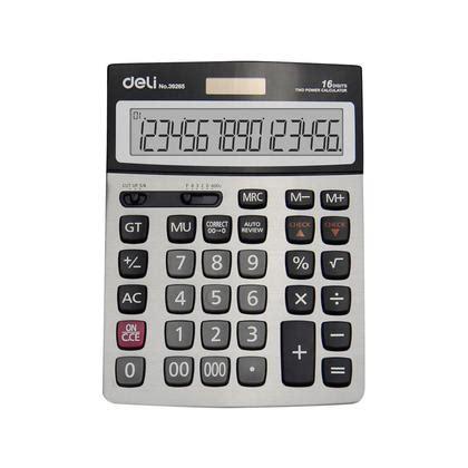 Deli Calculator 16 Digits E39265 deli 39265 16 digit desktop calculator 123inkcartridges