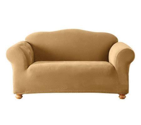 sure fit pique slipcover sure fit stretch pique 1 piece love seat slipcover qvc com
