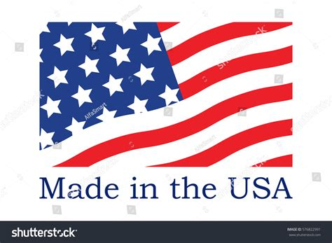 made in the usa symbol made usa symbol stock vector 576822991