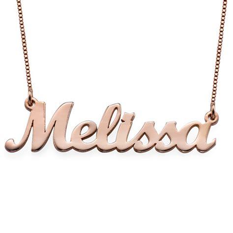 cadenas de oro 14k con nombre collar con nombre cursiva chapado en oro rosa 18k