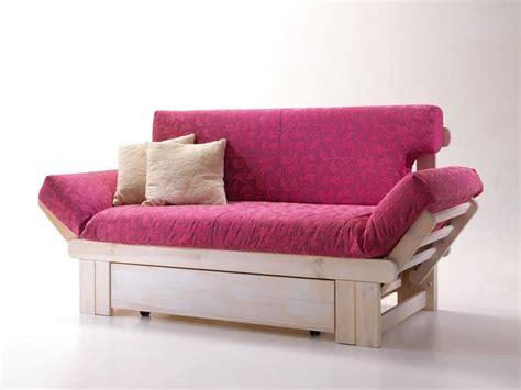 divanetti letto divano letto rustico in legno con contenitore idfdesign