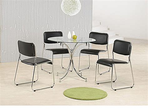Clear Glass Dining Table And 4 Chairs Clear Glass Dining Table And 4 Chairs Homegenies