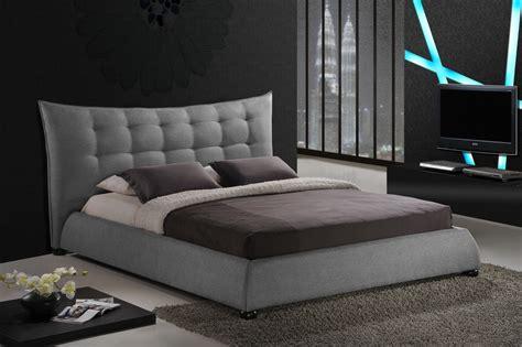 gray king bed baxton studio bbt6323 grey king marguerite grey linen